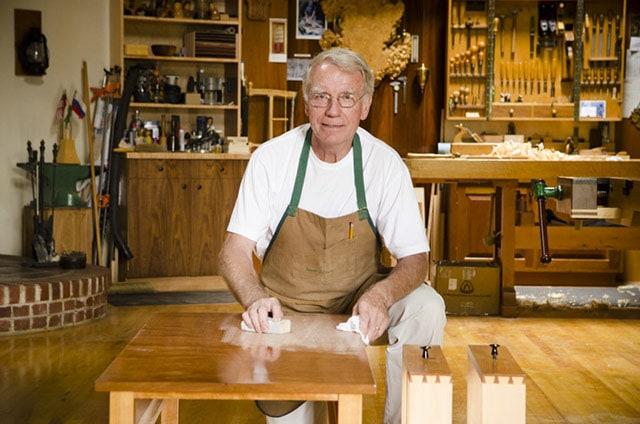 Frank Klausz Woodworking Shop Tour Sanding Furniture In His Wood Shop