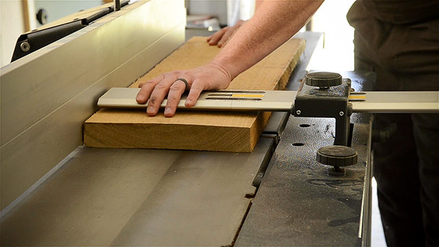 Surface Planing On A Felder Ad 941 Jointer Planer Machine