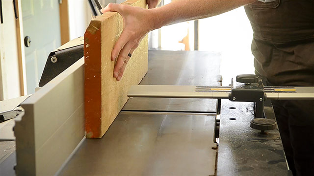 Jointing A Board Edge On A Felder Ad 941 Jointer Planer
