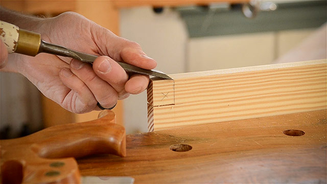 Making Hand Cut Dovetails With A Wood Chisel And Dovetail Saw