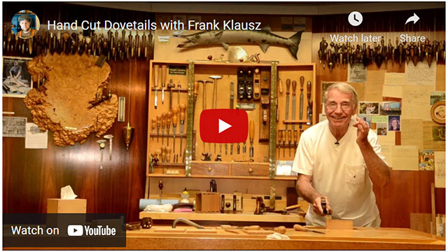 Frank Klausz Cutting Dovetails By Hand Video