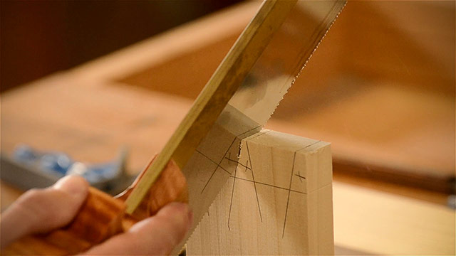 Cutting Dovetails By Hand With A Dovetail Saw And Other Woodworking Hand Tools
