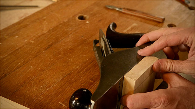 Setting Board Height With A Hand Plane Whilc Cutting Dovetails By Hand With Woodworking Hand Tools