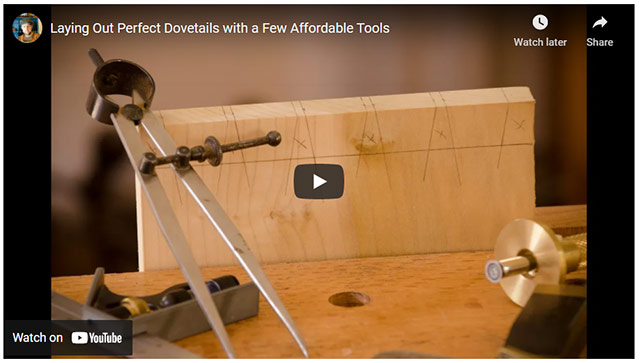 Video Lay Out Perfect Dovetails With Hand Tools