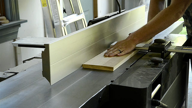 Milling Or Squaring Lumber Boards With Woodworking Power Tool Machinery