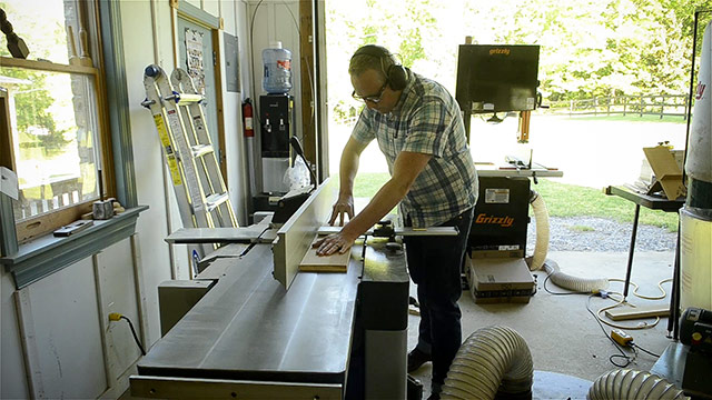 Joshua Farnsworth Usign His Felder Ad-941 Jointer Planer To Square Up, Flatten, Joint, And Plane Lumber