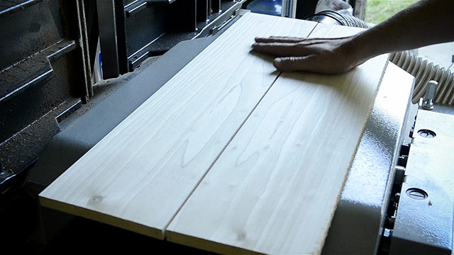 Bookmatched Boards By Joshua Farnsworth Using His Felder Ad-941 Jointer Planer To Square Up, Flatten, Joint, And Plane Lumber