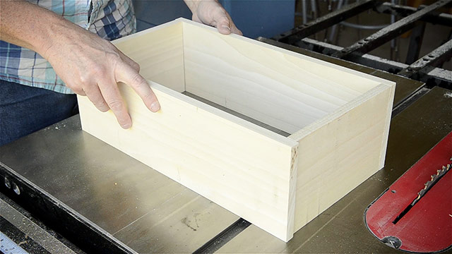 Joshua Farnsworth Sets Up 4 Newly Squared Up Boards On The Table Saw For A Dovetail Box