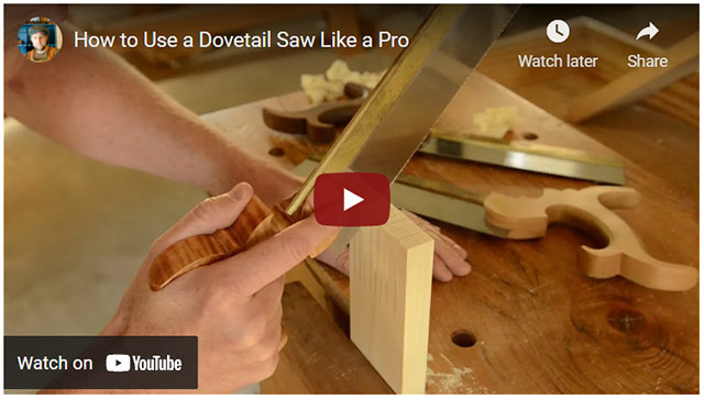 Video How To Use A Dovetail Saw Like A Pro Video