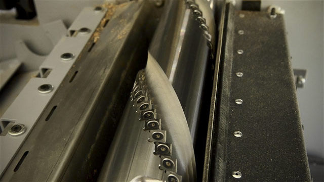 Helical Cutterhead On A Felder Ad 941 Thickness Planer Jointer Combo Machine