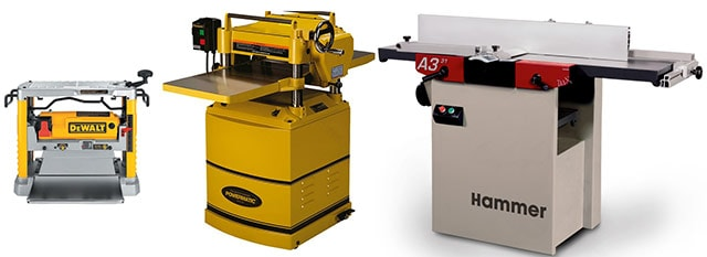 Thickness Planer Types Benchtop Planer Stand-Alone Planer Combo Planer Jointer