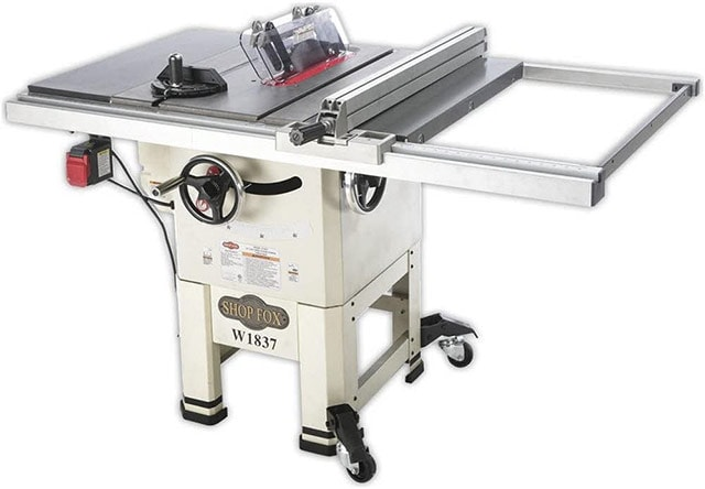 Shop Fox W1837 Contractor Table Saw