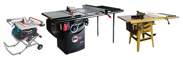 Best Table Saw Type Portable Table Saw And Cabinet Table Saw