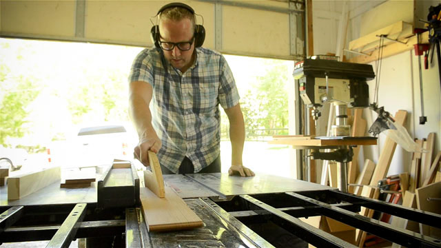 Joshua Farnsworth Ripping A Board On A Sawstop Table Saw The Best Table Saw For Beginners