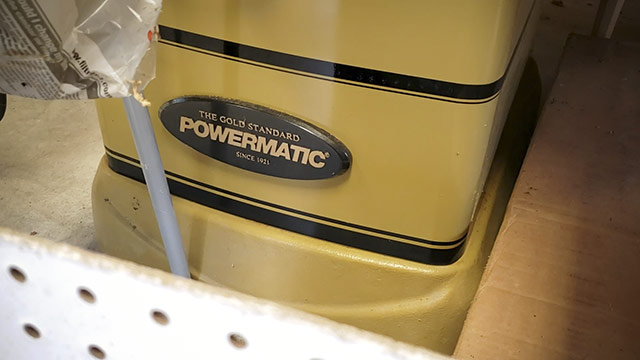 Powermatic Cabinet Table Saw Label